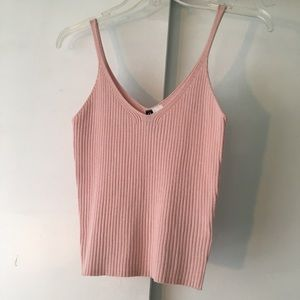 Pink tank top from h&m